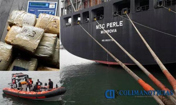一艘驶往中国的MSC旗下集装箱船发现大量毒品!